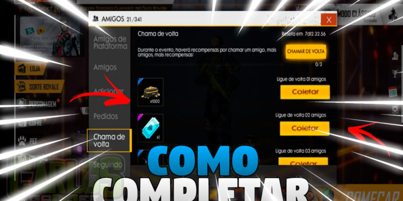 COMO GANHA DIAMANTES E TICKET DE DIAMANTES